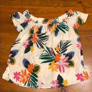 Flowy floral shirt